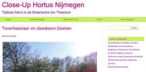 Close-up de foto-website van Dominique Flor met blogs over allerlei bloemen in Hortus Nijmegen