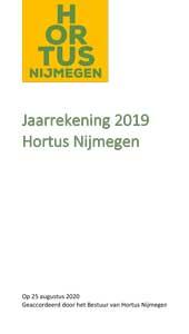 Jaarrekening Hortus Nijmegen 2019