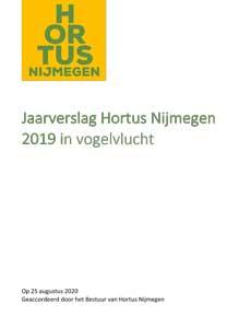 Kaft jaarverslag Hortus Nijmegen 2019 in vogelvlucht